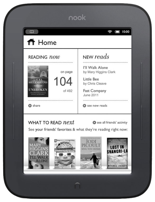 Ремонт эл. книг Barnes & Noble NOOK Simple Touch